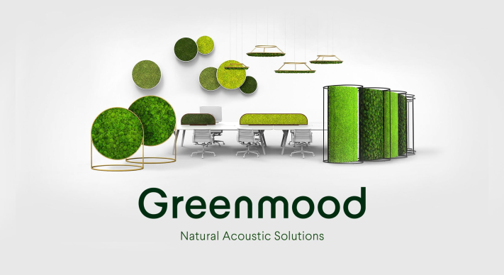 Greenmood logo natural acoustic solutions